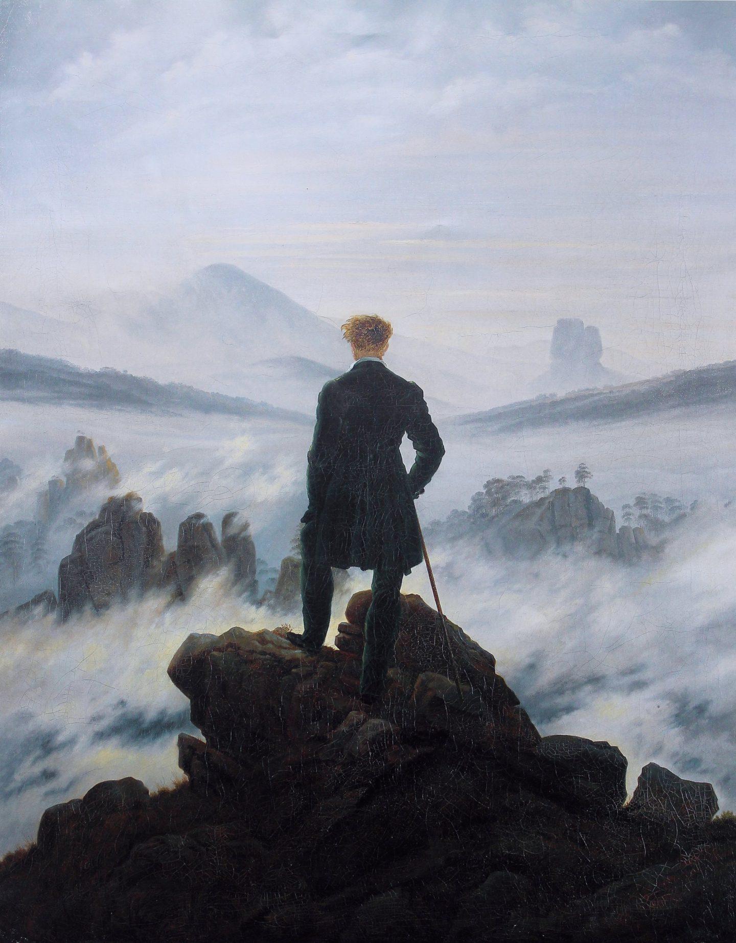 Caminante sobre el mar de nubes de Caspar David Friedrich - similitud con Frankenstein