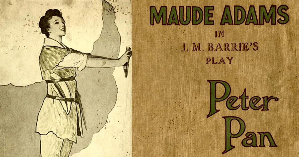 Maude Adams en la obra de Peter Pan