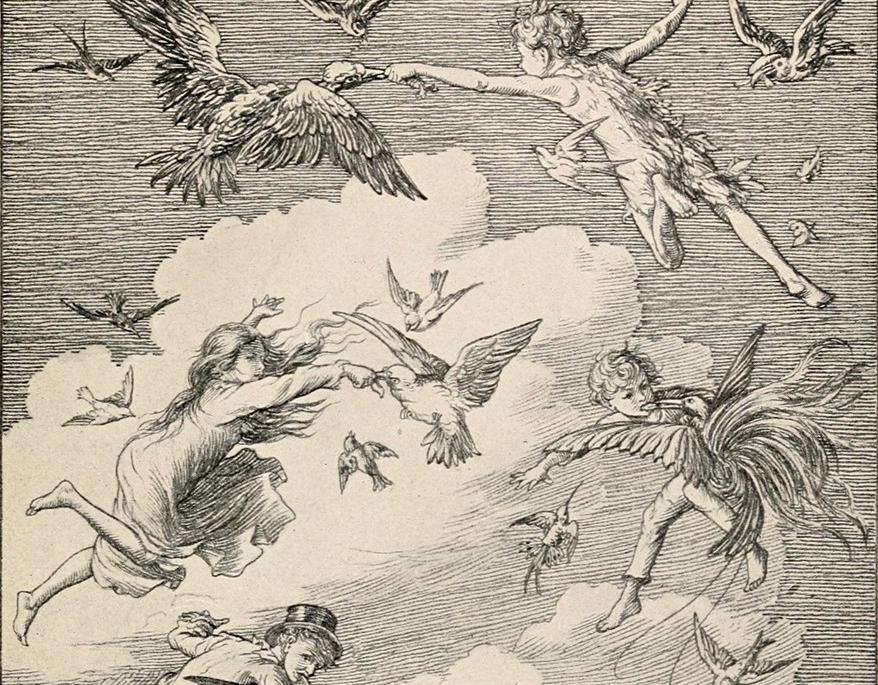 Ilustración de Peter Pan y los Darling - Bedford